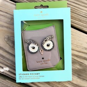 Kate Spade Owl Sticker Pocket ID Holder